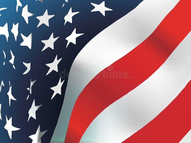 Amerikaanse vlag, vector stock illustratie