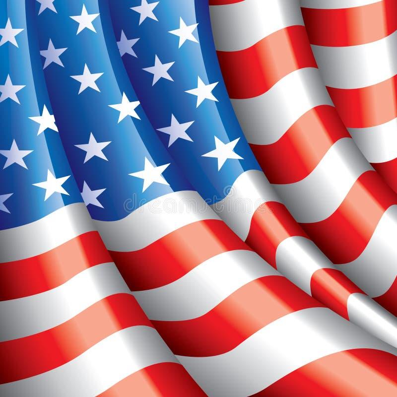 Amerikaanse vlag vectorachtergrond royalty-vrije illustratie