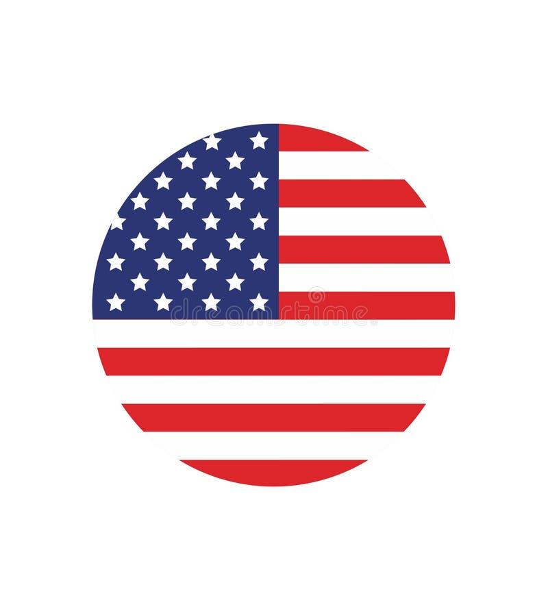 Amerikaanse Vlag Vectorbeeld van Amerikaanse vlag Amerikaanse vlagachtergrond Amerikaanse Vlag De Verenigde Staten van Amerika vector illustratie