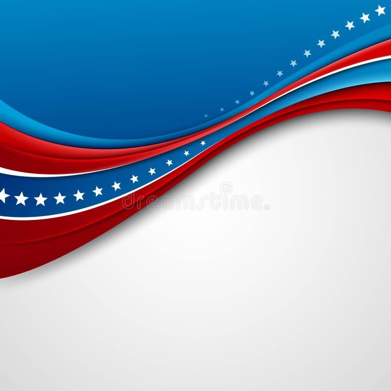 Amerikaanse Vlag voor de Dag van de Onafhankelijkheid Vector royalty-vrije illustratie