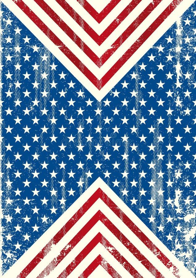 Amerikaanse vlag vuile achtergrond vector illustratie