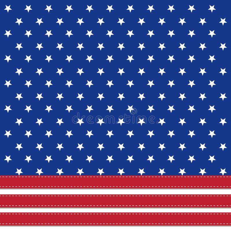 Amerikaanse vlagachtergrond die met sterren 4 symboliseren juli