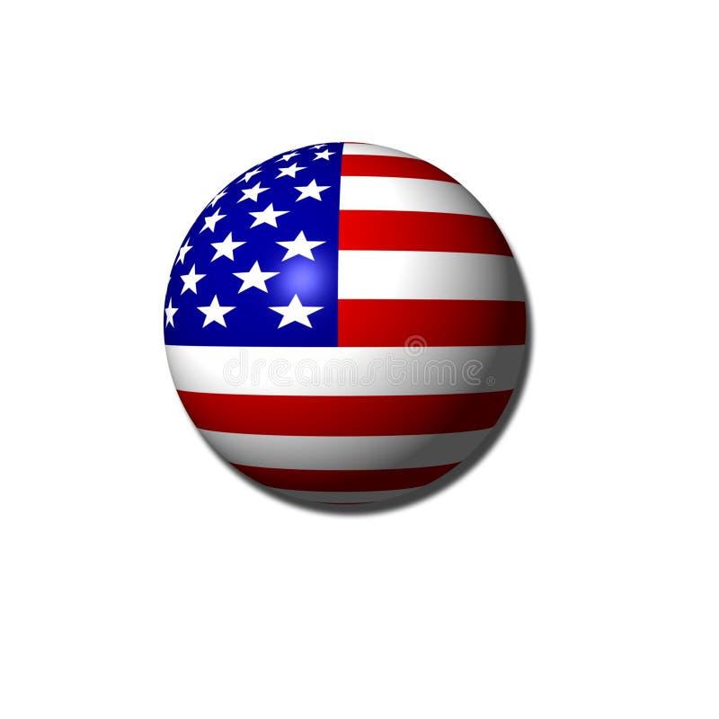 Amerikaanse vlagbol vector illustratie