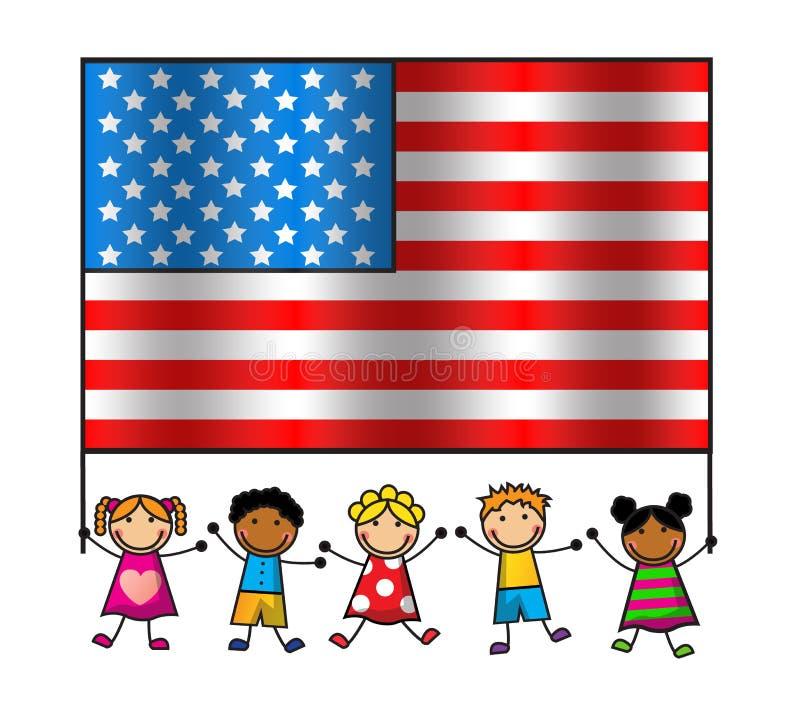 Amerikaanse Vlagdag royalty-vrije illustratie