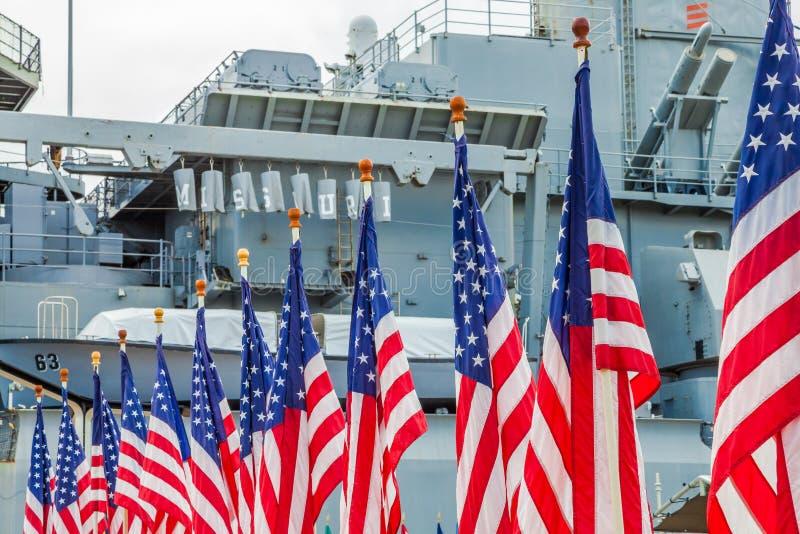 Amerikaanse vlaggen Missouri royalty-vrije stock afbeelding
