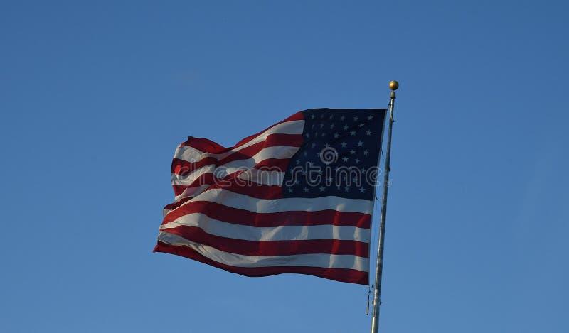 AMERIKAANSE VLAGvlieg IN ORLANDO FLORIDA IN DE V.S. royalty-vrije stock foto's