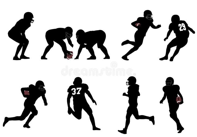 Amerikaanse voetbal royalty-vrije illustratie
