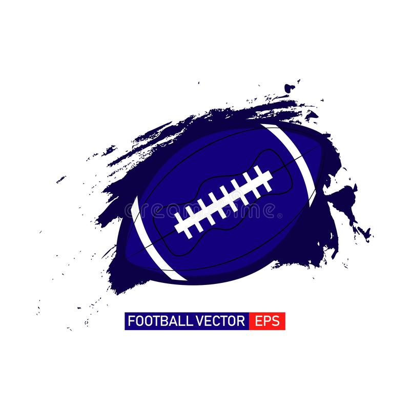 Amerikaanse Voetbal Logo Vector Template Design Illustration vector illustratie