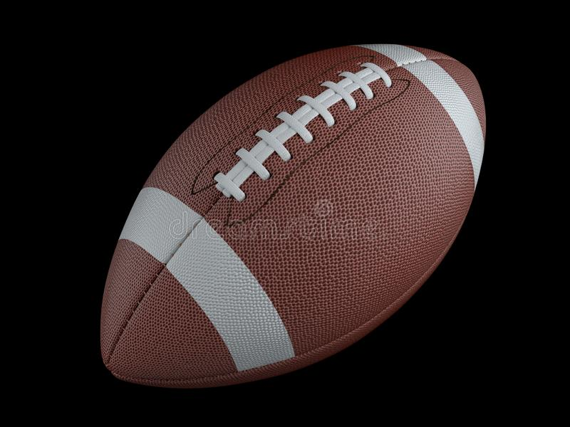Amerikaanse voetbal op donkere achtergrond met het knippen van weg Super Bowl royalty-vrije illustratie
