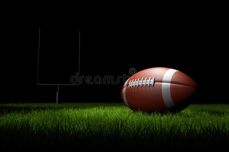 Amerikaanse Voetbal op het gebied royalty-vrije illustratie