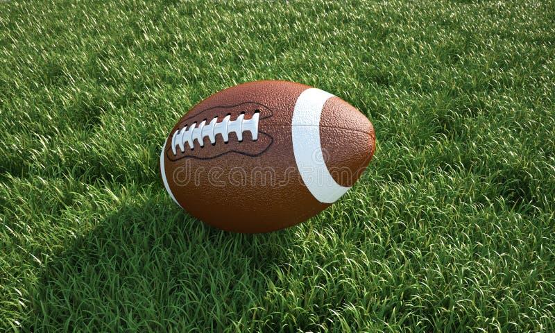 Amerikaanse voetbal, op het gras. Close-up. royalty-vrije stock fotografie
