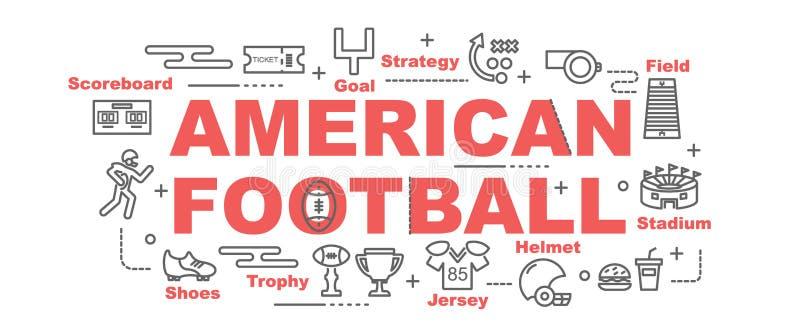 Amerikaanse voetbal vectorbanner royalty-vrije illustratie