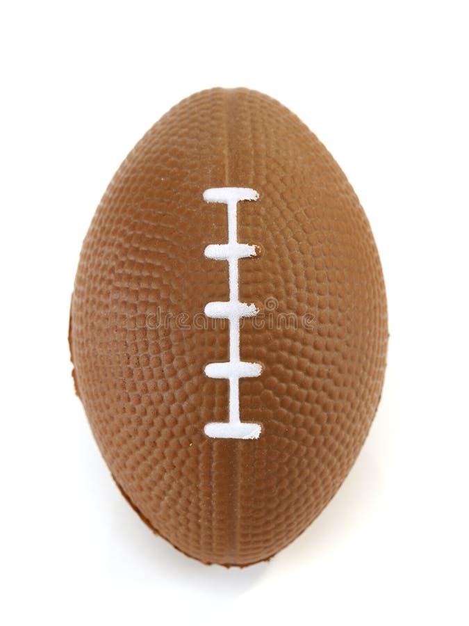 Amerikaanse voetbal witte achtergrond, close-up stock afbeeldingen