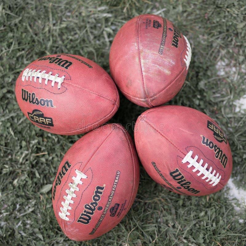 Amerikaanse voetbalbal stock afbeelding