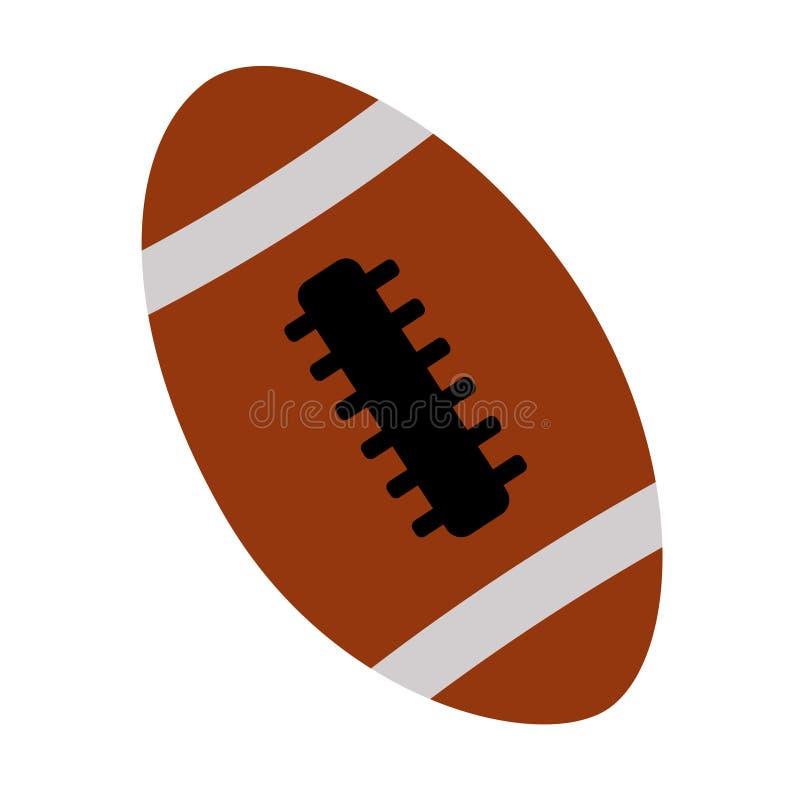 Amerikaanse voetbalbal op de witte achtergrond stock illustratie