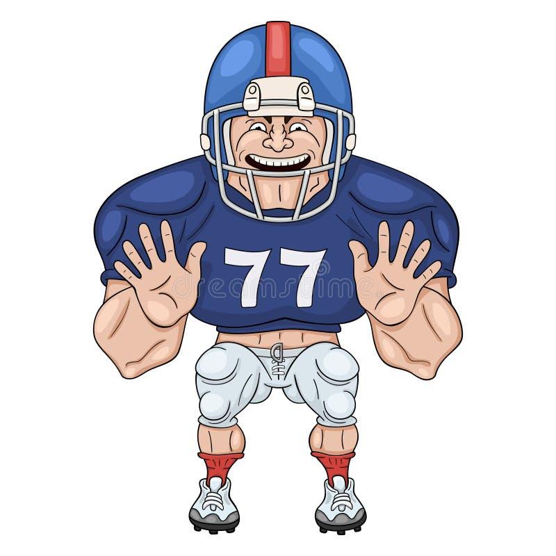 Amerikaanse voetbalster royalty-vrije illustratie