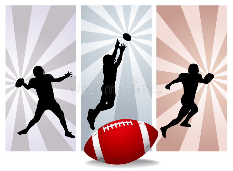 Amerikaanse voetbalsters stock illustratie