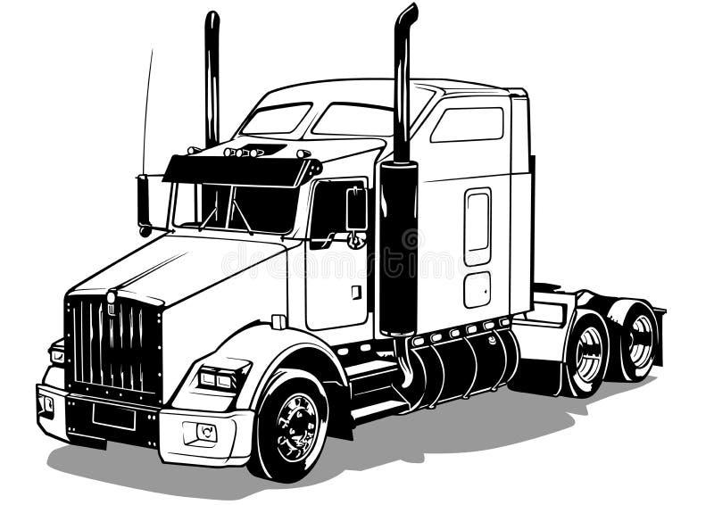 Amerikaanse vrachtwagen royalty-vrije illustratie