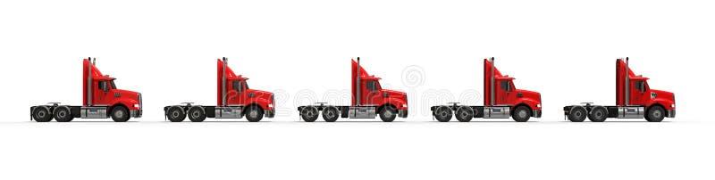 Amerikaanse vrachtwagens stock illustratie