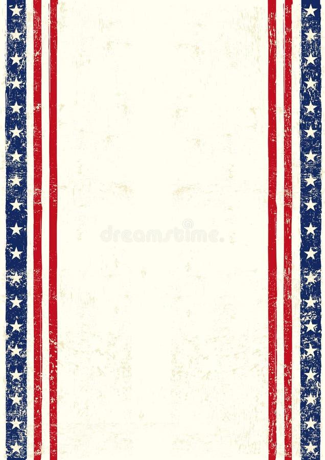 Amerikaanse vuil vector illustratie