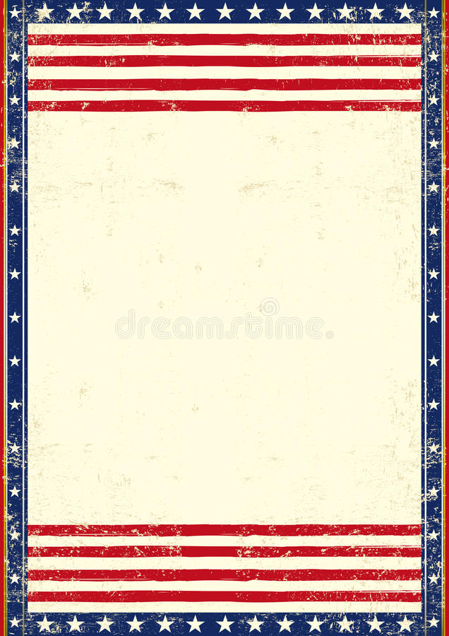 Amerikaanse vuile patriottisch vector illustratie