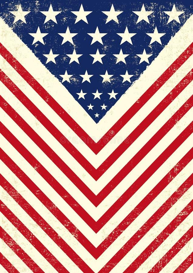 Amerikaanse vuile vlag royalty-vrije illustratie