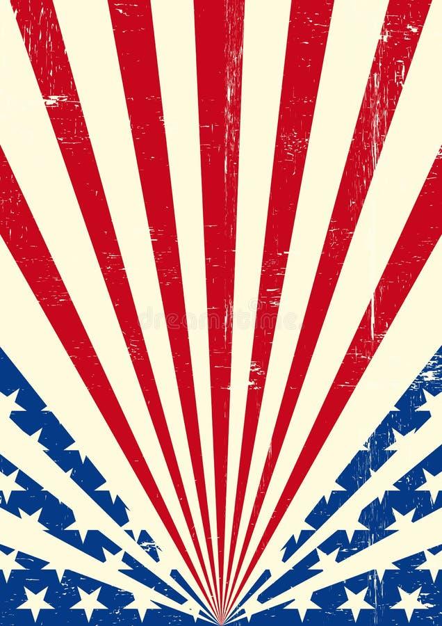 Amerikaanse vuile vlagachtergrond royalty-vrije illustratie