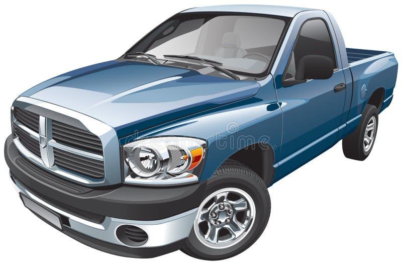 Amerikaanse ware groottebestelwagen stock illustratie