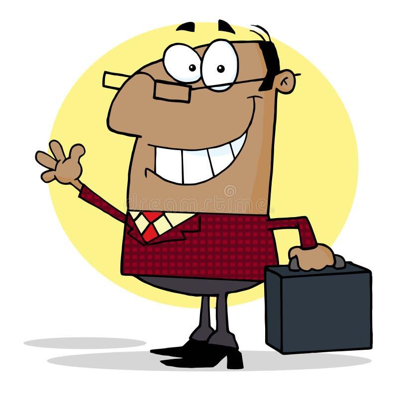 Amerikaanse werkgever die een groet golft vector illustratie