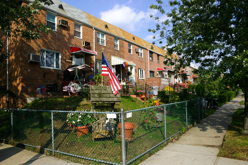 Amerikaanse woningbouw royalty-vrije stock foto