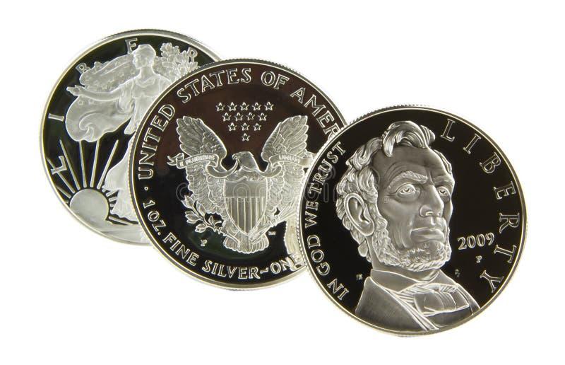 Amerikaanse Zilveren Dollar stock afbeeldingen
