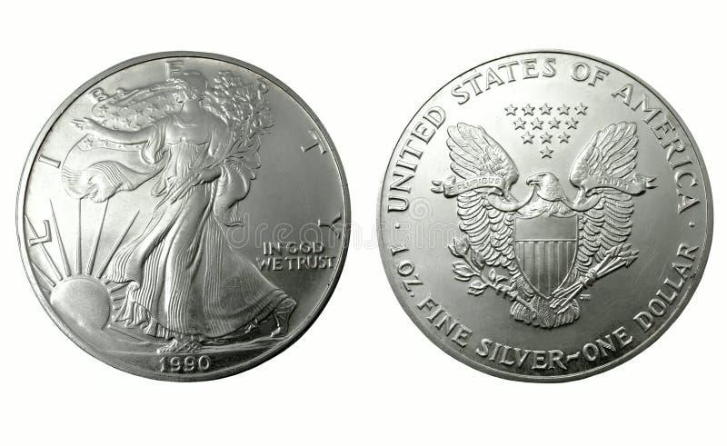 Amerikaanse zilveren dollar royalty-vrije stock afbeeldingen