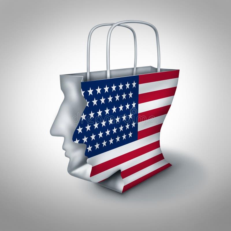 Amerikan Conumer stock illustrationer