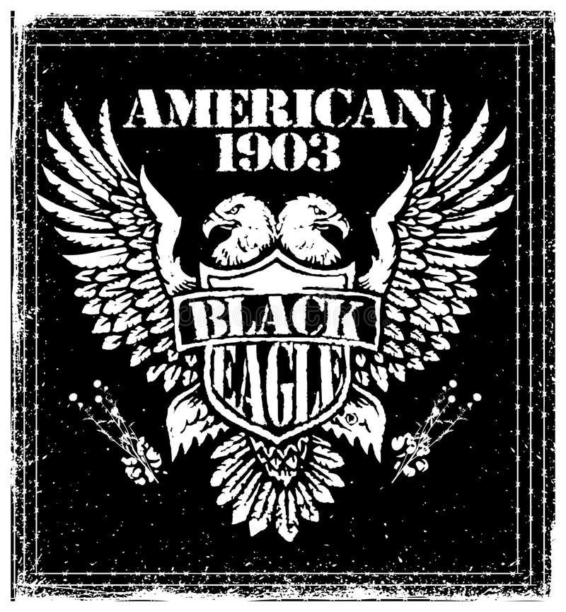 Amerikan Eagle Vector Graphic Design royaltyfri illustrationer