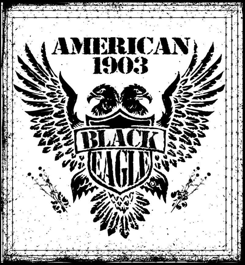 Amerikan Eagle Vector Graphic Design stock illustrationer