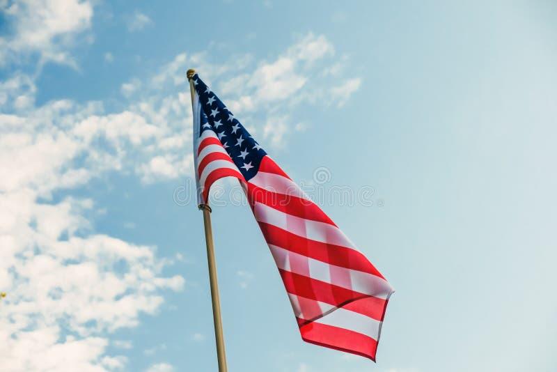 Amerikan för bakgrund för flaggaUSA frihet, baner royaltyfria bilder