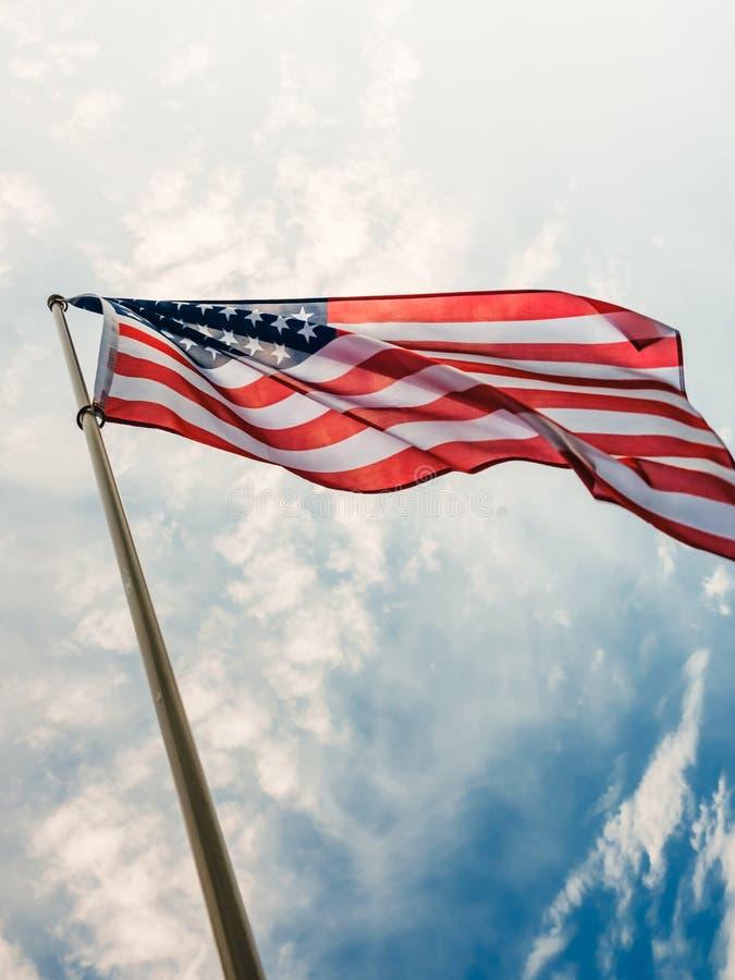 Amerikan för bakgrund för flaggaUSA frihet, randig medborgare fotografering för bildbyråer