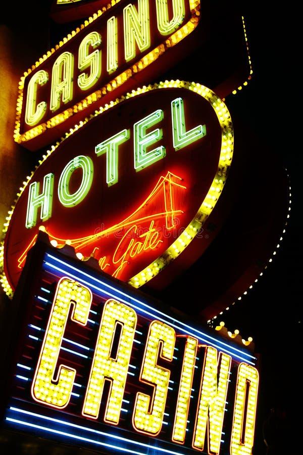 Amerikan Nevada, välkomnande som aldrig sover staden Las Vegas royaltyfri bild