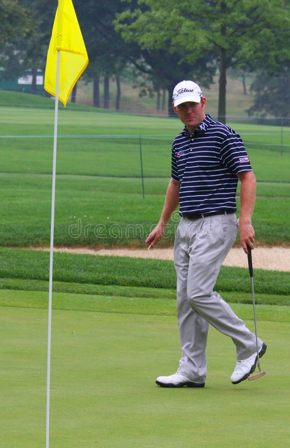 Amerikan PGA pro-Troy Matteson royaltyfri fotografi