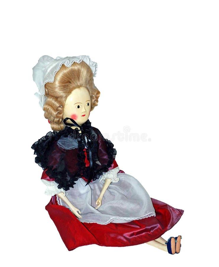 Amerikan Virginia Doll Antique Vintage Isolated arkivfoton