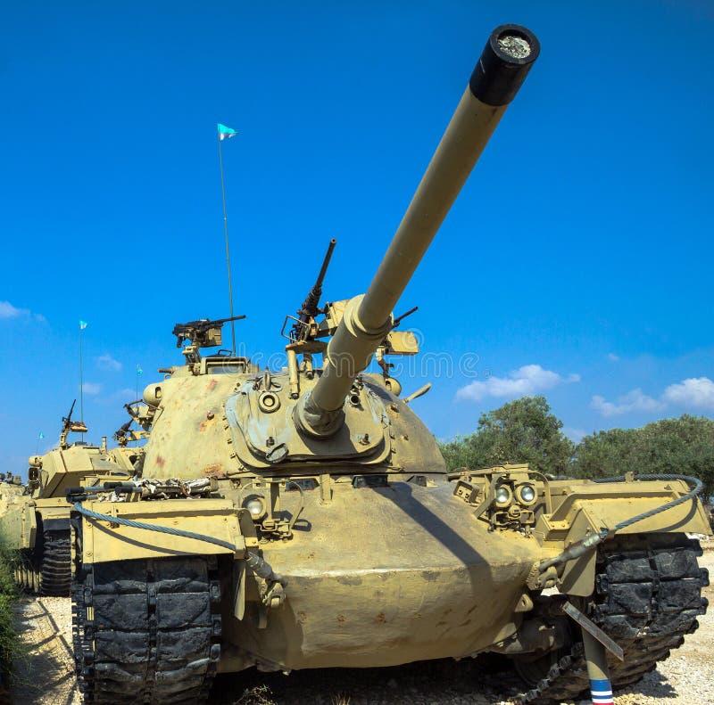Amerikanen gjorde M48 A3 Patton Main Battle Tank Latrun Israel royaltyfri fotografi