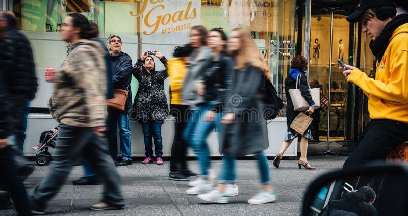 Amerikanen op de straten van New York royalty-vrije stock foto's