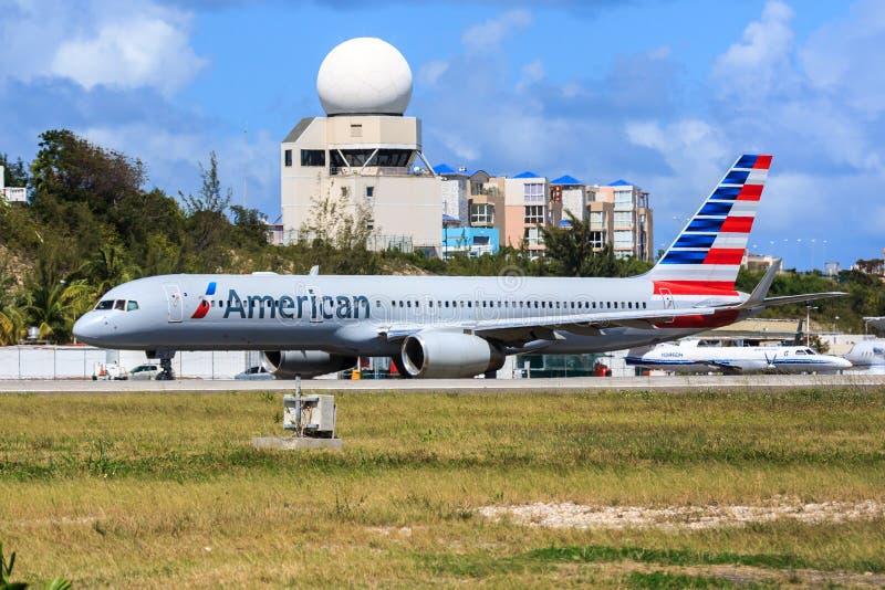 Amerikaner Boeing 757 stockfoto