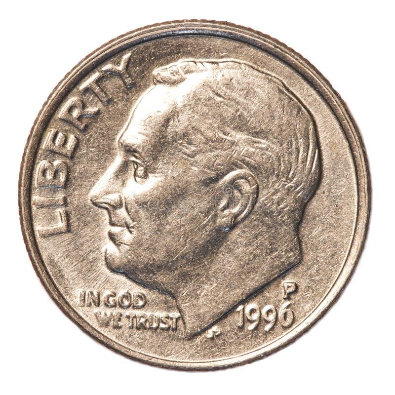 Amerikaner eine Groschenmünze stockfoto