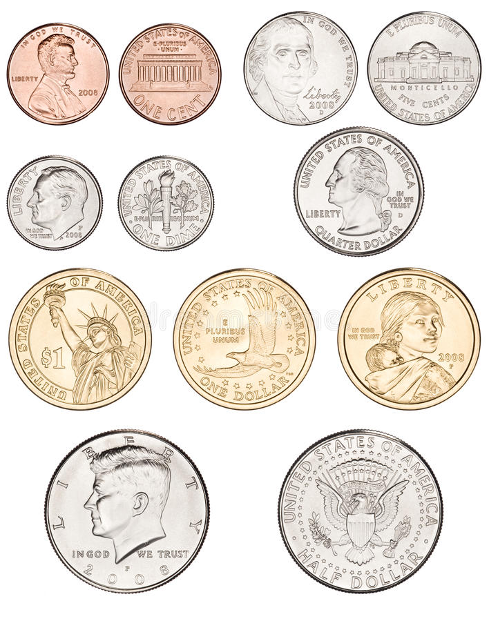 Amerikaner prägt Geld lizenzfreies stockbild