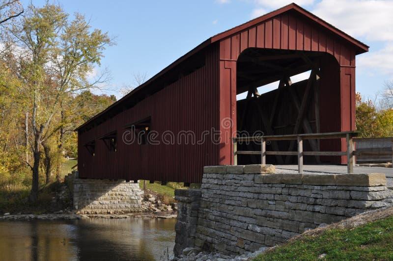 Amerikanische abgedeckte Brücke stockfoto