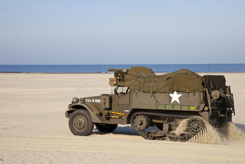 AMERIKANISCHE Armee Halftrack lizenzfreie stockfotos