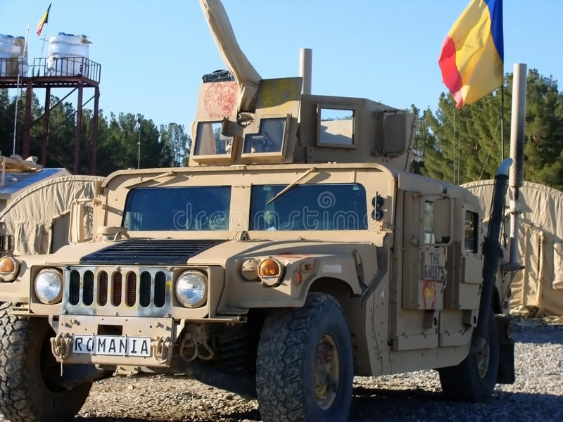 AMERIKANISCHE Armee Humvee lizenzfreie stockfotos