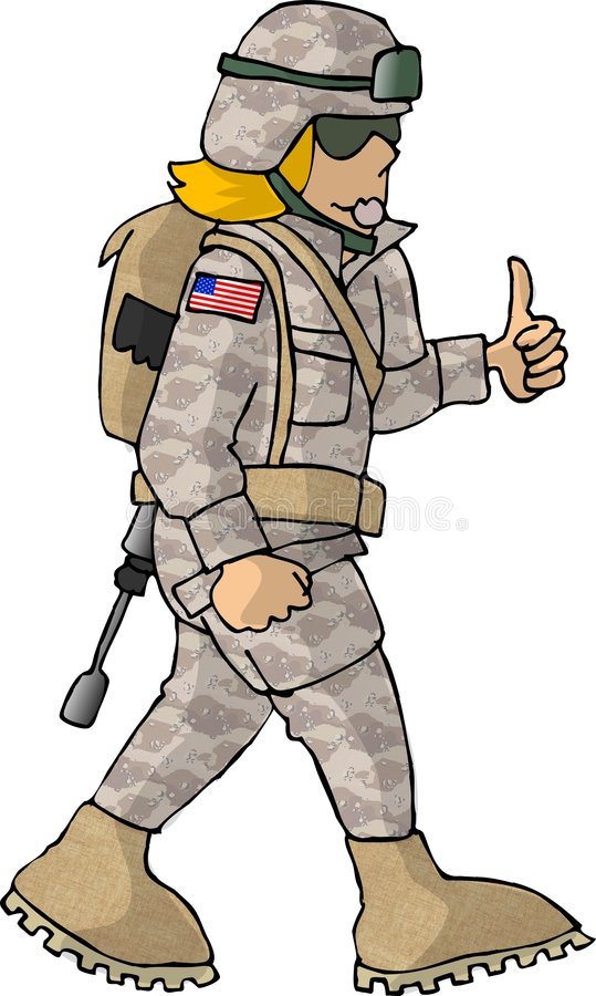 Download AMERIKANISCHE Armee-Mädchen Stock Abbildung - Illustration von gewehr, kampf: 30373