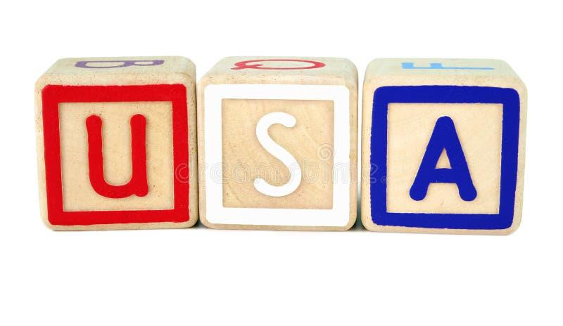 Amerikanische Bausteine lizenzfreie stockbilder